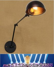 Wholesale Wall Adornment - American RH retro Creative personality abroad long arm industrial Wall adornment Wall lamp Lighting double section MYY