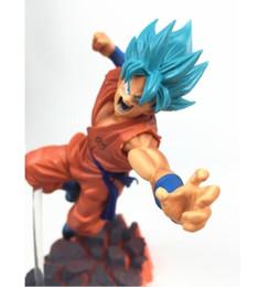 2019 bolo de banda desenhada Dragon Ball Z azul Super Saiyan Goku Son Goku Ação PVC Figures presentes modelo de cobrança Toys Dolls