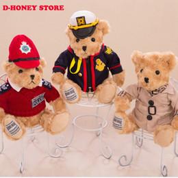 Wholesale Ted Toys - 30cm Kawaii Joint Pilot Teddy Bears Stuffed Plush Cute Toy Blue Fly Teddy-Bear Bear Ted Bears peluches Wedding Gifts teddy bear
