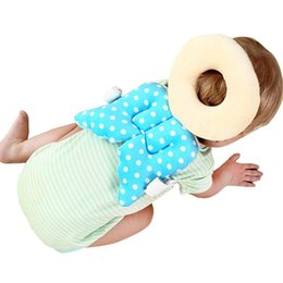Wholesale Resistance Therapy - Wholesale- Baby Head protection pad Toddler headrest pillow baby neck Cute wings nursing drop resistance cushion