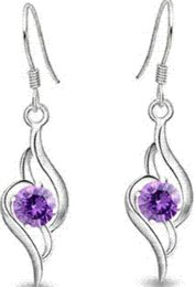 Wholesale Cheap Spiked Jewelry - 100% Sterling Silver Jewelry Female Models Angel Love Drop Earrings Sterling Silver Earrings Top Quality!! Cheap earrings spike