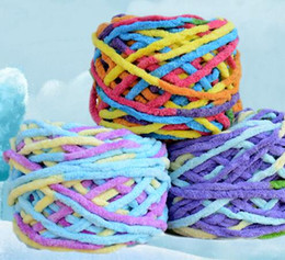 Wholesale Thread Scarves - wholesale 5 balls lot 500g natural soft scarf cotton yarn thick yarn for knitting crochet baby knitting wool yarn thread