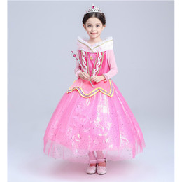 Wholesale Star Baby Dress - Baby & Kids Clothing Cosplay & Costumes Halloween Day Christmas Classic Fairy Tales Princess Aurora Dresses Stage Performance Dress
