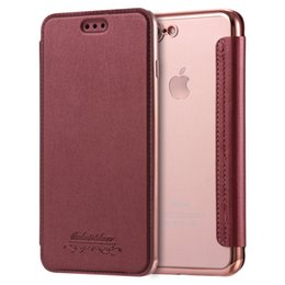 Wholesale Premium Leather Cases - For iphone7 6S 6plus Slim Premium Flip Case Cover Leather Wallet phone TPU For iphone 7 Galaxy Note 7 7plus