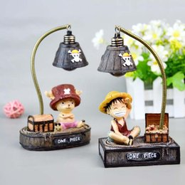 Wholesale Lamp Wholesaler Japan - Hot sale LED Night Light Luffy Handicraft Reading Lamp Japanese Anime Table Lamp Chopper Home Decoration