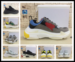 Wholesale Shoes For Men S - Epacket men triple-s sneakers 17FW running shoes for men shoe thicken y3factory Athletic sports shoes futbol zapatillas adults sneaker 36-45