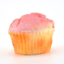 Wholesale Yummy Jumbo Cup Cake Bread Squishy Scent Puffs Straps Toy Collectibles