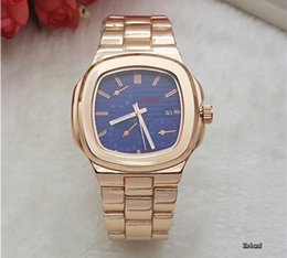 Wholesale Transparent Sapphire - Luxury brand high quality automatic Mechanical men watch blue dial Sapphire stainless steel Transparent glass back men's watches