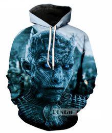 2019 игры печать Новая мода пары Мужчины Женщины унисекс Игра престолов 3D печати толстовки свитер толстовка куртка пуловер топ S-5XL T93 дешево игры печать