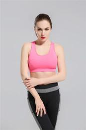 Wholesale Fashion Sport Clothes - 2018 Pink Yoga Bra Fashion Quick Dry Sportswear Womens Tops Fitness yoga sports bra Gym Clothes Free Drop Shipping lymmia