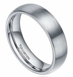 Wholesale Tungsten Carbide Men - 6mm Tungsten Carbide Ring Brushed Dome Wedding Bands Comfort Fit Size 4-15 For Men Women