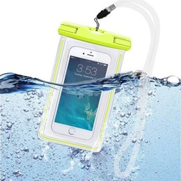 Wholesale S4 Cover Led - Universal Clear LED Luminous Waterproof Pouch Case Water Proof Bag Underwater Dry Cover For iPhone 4S 5 5S 6 plus Samsung S6 S4 Note 4
