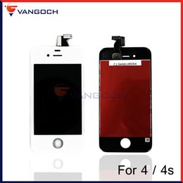 Wholesale Iphone 4s Cdma Lcd - For iPhone 4 4s 4G CDMA LCD Display Touch Screen Digitizer Assembly With Frame Repair Replacemnet by DHL