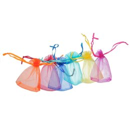 Wholesale Good Quality Organza Bags - Good Quality 200Pcs 7x9cm Mixed Random ORGANZA Wedding Favour GIFT BAGS Jewellery Pouches,jewelry bag