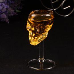 Wholesale Shot Skull - 75ml Skull glass glass stein beer glass Head Whiskey Shot Drinking Popular Design New Fashion Party Supplies
