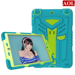 "Wholesale Ipad Transformer - Shockproof Hybrid Military PC + Silicone Transformers Autobots Heavy Duty kickstand case For iPad 2 3 4 pro 9.7"" air2 mini mini4"