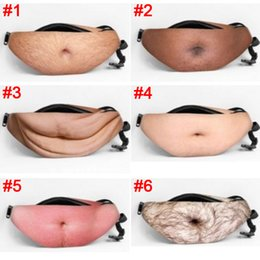 Wholesale Beer Belly Belt - Pre-sell Dad Bag Fanny Pack Fake Hairy Gut Beer Belly Waist Pack Bag Bumbag with Adjustable Belt Funny Party toy Gift Anti disturbance bags