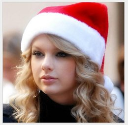 Canada 2016 nouvelle haute qualité Noël costumes Santa Claus chapeau Noël Noël chapeau en peluche capuchon en tissu fluff Offre