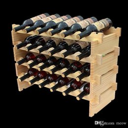 Wholesale Wine Rack Wood - Wooden Wine Rack DIY Assemble Wine Shelf Wood Holders Suitable for Hotel Cellar Bar Club Home