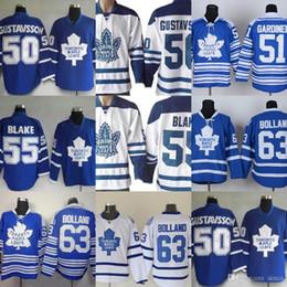 Wholesale Free Leafs Jersey - Factory Outlet Men's Toronto Maple Leafs #50 Gustavsson #51 Jake Gardiner #55 Blake #63 Bolland Blue White New hockey jerseys free shipping