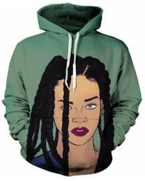 Sudaderas con capucha rihanna online-Las nuevas mujeres / hombres de la impresión 3D Sexy Rihanna Pullover Hoodies / sudaderas con capucha