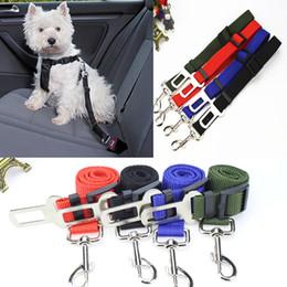 2019 ha condotto il petto del collare del cane Sedile DHL libero Pet Dog Safety Car Cintura Tether guida con la maniglia molle di sicurezza regolabile cane del cablaggio della cintura di sicurezza dell'automobile Pet Supplies E800L