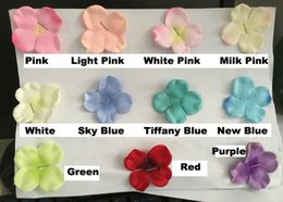 Wholesale Pink Wedding Hair Accessories - 175PCS BAG hydrangea petals 4.5cm artificial DIY silk wedding aisle flower Petals Jewelry Hair accessory home wedding decoration