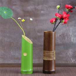 Wholesale Handmade Crafts For Home Decoration - Wholesale - Handmade Japanese Bamboo Flower Vase For Home Decoration Plant Paint High Quality Wedding Decoration Vases Gift Crafts Bottles