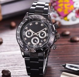 Wholesale Modern Style Clock - 38 MM Luxury design fashion style automatic Small calendar new top brand AAA quality diamonds watches mens stainless steel black clocks