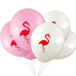 Wholesale Animals Model Set - Hey funny 100 pcs lot 10 inch Flamingo ball made of latex children's toys Birthday Wedding Baby shower Pool Party Decor Bachelor hen hen par