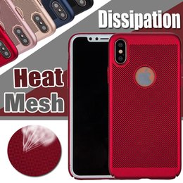 Wholesale Net Mesh Case - For iPhone X Case Mesh Heat Dissipation Matte Ultra Thin Slim Porous Hard PC Net Grid Hollow Out Dot Full Cover For iPhone 8 7 Plus 6 6S