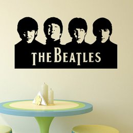 Wholesale Beatles Decals - 2016 new Beatles Wall Art Decals Vinyl Wall Stickers Home Decor Wall Stickers 29X57CM free shipping