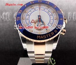 Wholesale Mens Automatic 18k Rose Gold - Luxury Watches Brand New II 2 TONE 18K ROSE GOLD STEEL 116681 Mens Automatic Mechanical Watch Men's Movement Wristwatches