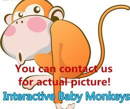 Wholesale Talking Novelty - Interactive Baby Monkeys Blinking Eyes Turn head Blow Kisses Talk in Monkey Babble Adorable Finger Monkey Novelty Toy with random retail box
