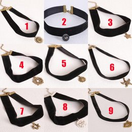 Wholesale Vintage Style Necklaces Wedding - Hot Selling Gothic Style Vintage Hollow-out Fashion Lace Necklace Statement Choker Necklace For Women chokers 160318