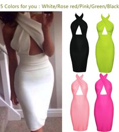Wholesale Red Cut Out Bodycon Dress - Fashion crossover V-neck high waist cut out midi dress women sexy hollow out bodycon Party Dress