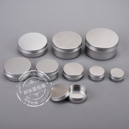 Wholesale Wholesale Tin Jars - Free Shipping 15ml Aluminium Balm Tins pot Jar 15g comestic containers with screw thread Lip Balm Gloss Candle Packaging 500pcs