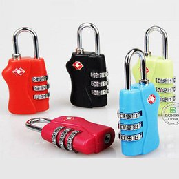 Wholesale Tsa Travel - Customs Luggage Padlock TSA338 Resettable 3 Digit Combination Padlock Suitcase Travel Lock TSA locks safty YYA371