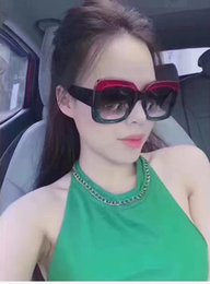 Wholesale Hot Black Ladies - New fashion women sunglasses 0083 5 colors frame shiny crystal design square big frame hot lady design UV400 lens with original case