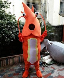 Wholesale Shrimp Mascot Costumes - 2016 product mascot Adult Orange Shrimp Mascot Costumes Cartoon Costumes Advertising Costumes