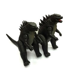 Wholesale Dinosaur Action - Godzilla Collection Action Figure Collect Toy 23*18cm PVC Monsters Dinosaur 2Pcs set Movie Toys Free Shipping