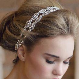 Wholesale hair headbands for cheap - Fashion Bridal accessories Elegant Bridal Crown Tiara Crystal Hair Accessories Headpieces Hair Band Headbands for Bridal Cheap