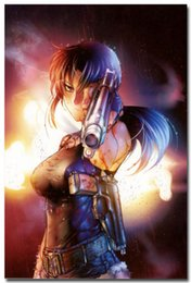 Wholesale Black Lagoon Anime - BLACK LAGOON Revy Two-Hand Anime Art Silk Poster Wall 24x36inch