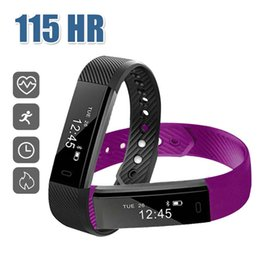 Wholesale Heart Rate Calorie Monitor - Fitness Tracker Smart Bracelet ID115 Bluetooth Smart Watch Activity Tracker Calorie Counter Wireless Sleep Monitor For IOS Android Phone