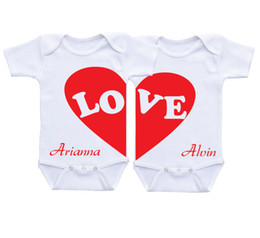 Wholesale Twins Baby Clothes Wholesale - Baby 100%Cotton clothes Boy Girl romper Twins Set Bodysuit 0-12M Newborn baby sleepsuit comfortable white one piece