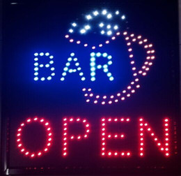 """Wholesale Bright Bar Sizes - Ultra Bright Wine BAR Cocktail with CUP LED Sign Super Size 19""""X19 with Animation montion and Power Switch"""