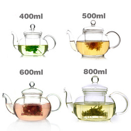Wholesale Heat Filter Glass - Handmade super transpar Heat-resistant glass teapot with the filter, 400ml 500ml 600ml 800ml,Beautiful and practical home teapot