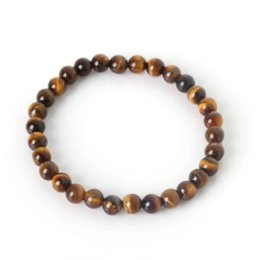 Wholesale Food Tigers - Tiger Eye Buddha Bracelets Bangles Elastic Rope Chain Natural Stone Friendship Bracelets For Women and Men Jewelry