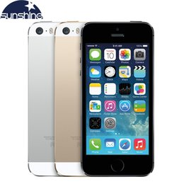 "Wholesale Mobile Phones Smartphones - Unlocked Original Apple iPhone 5S Mobile Phone Dual Core 4"" IPS Used Phone 8MP GPS IOS Smartphones iPhone5s Cell Phones"