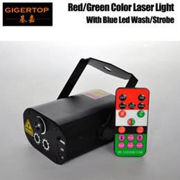 Wholesale Sky Light Green Laser - Gigertop TP-E37 Stage Effect Laser Light Moving 12 Pattern Static Sky Stars Projector Light with Blue Color 9W Led Wash Strobe
